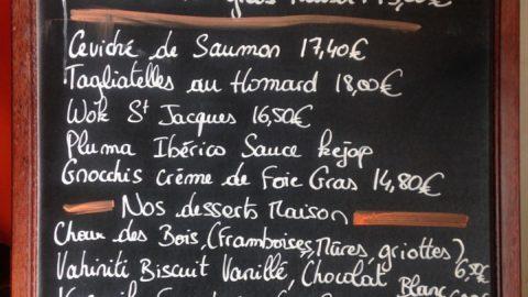 Cuisine locale, vin d'ailleurs
